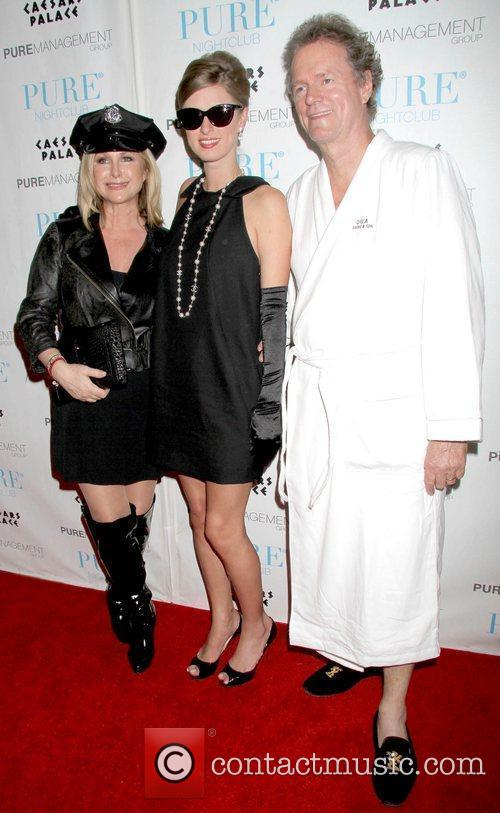 Kathy Hilton, Nicky Hilton and Rick Hilton celebrate...