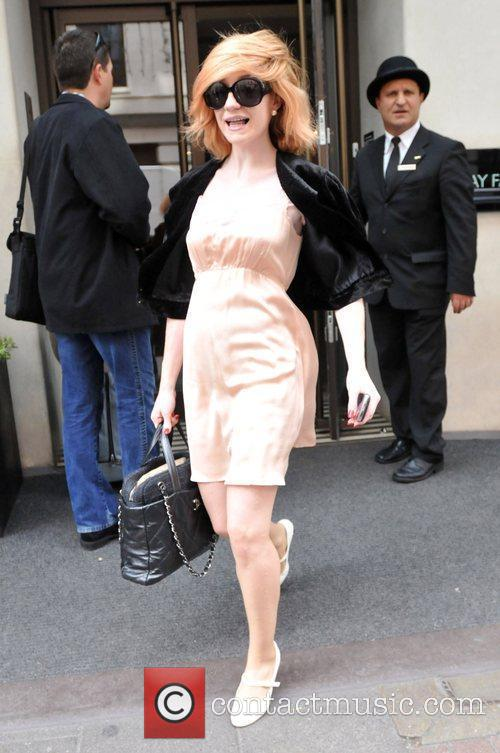 Nicola Roberts leaving her hotel London, England