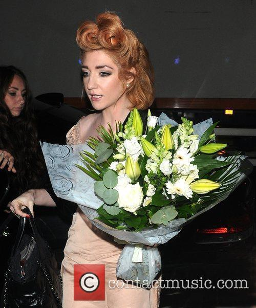 Nicola Roberts arrives back at her London hotel...