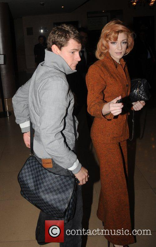 Nicola Roberts outside the May Fair hotel London,...