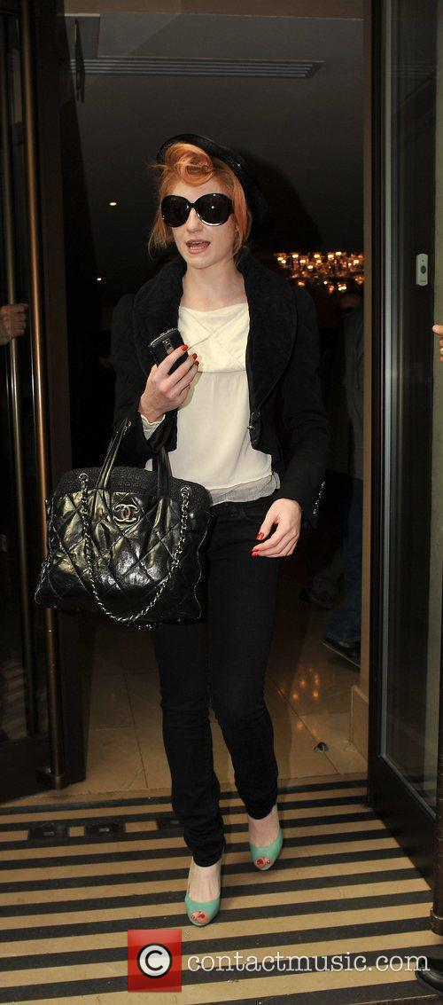 Nicola Roberts  arriving at the Mayfair Hotel....