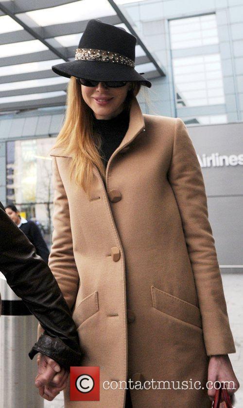 Nicole Kidman arriving at Heathrow Airport. London, England
