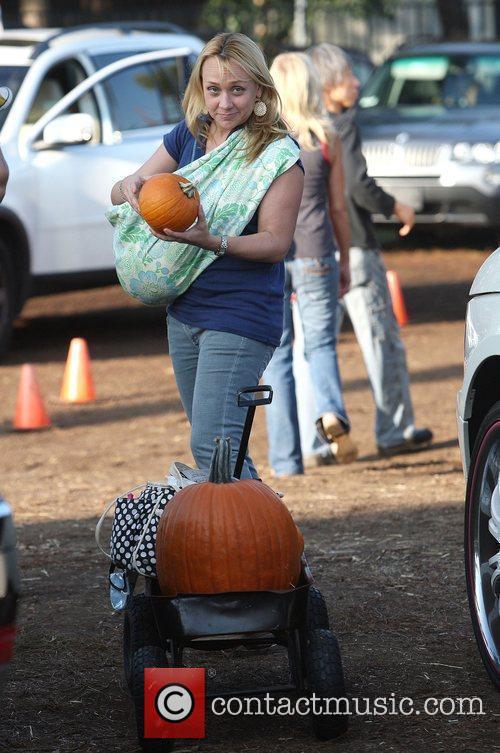 Nicole Sullivan takes her baby son Beckett Edward...