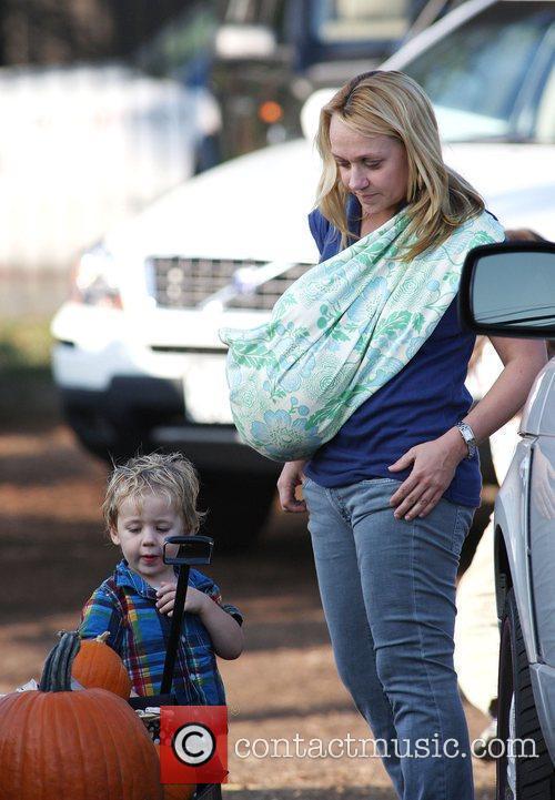 Nicole Sullivan takes her two sons Beckett Edward...