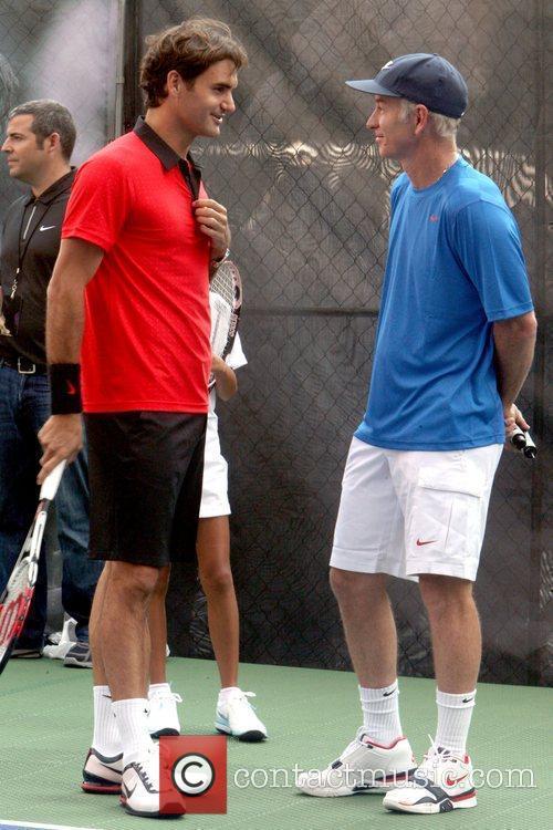 Roger Federer and John Mcenroe 2