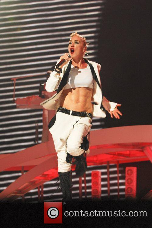 No Doubt performing in concert