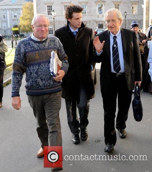 Noam Chomsky, Jamie Walsh and Robert Fisk 3