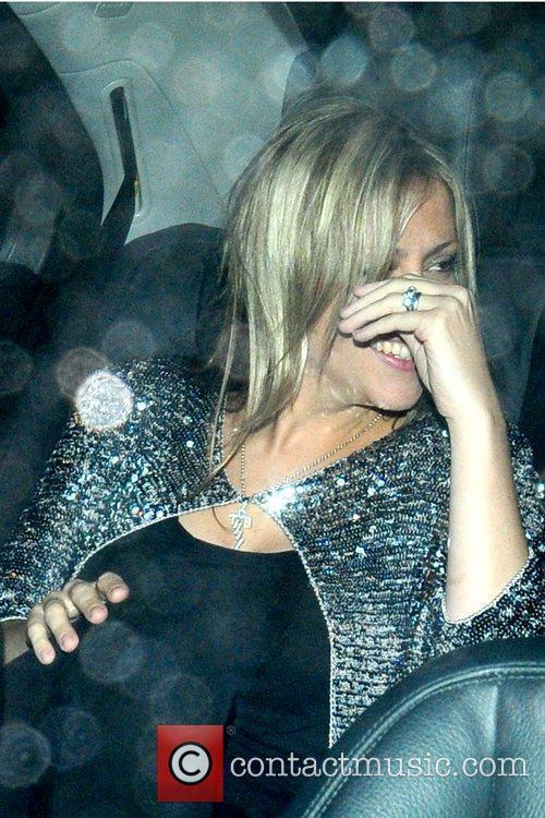 Nicole Appleton British singer leaving Nobu restaurant while...