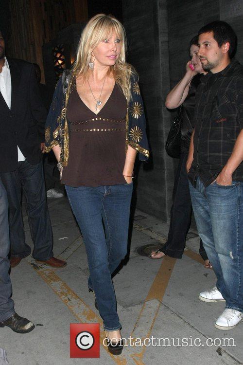 Lisa Gastineau outside Nobu restaurant Los Angeles, California