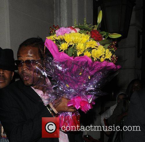 Flowers Are Carried Out Of Nobu Restaurant Following The Birthday Of Alexandra Burke 2