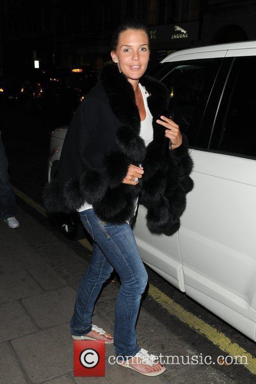 Daniella Lloyd outside Nobu restaurant London, England