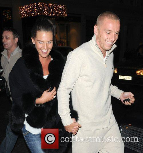 Daniella Lloyd and Jamie O'Hara outside Nobu restaurant...