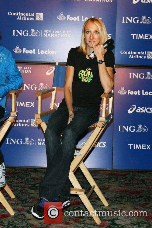 Paula Radcliffe ING New York City Marathon press...