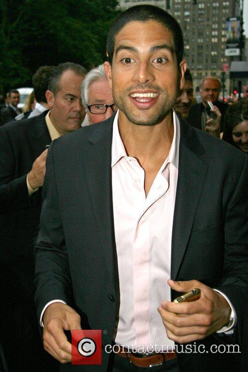 Adam Rodriguez outside his Manhattan hotel New York...