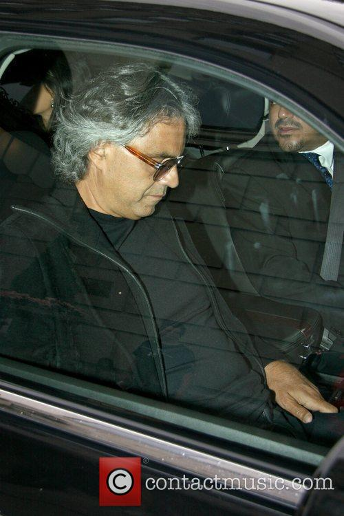 Andrea Bocelli outside his Manhattan hotel New York...