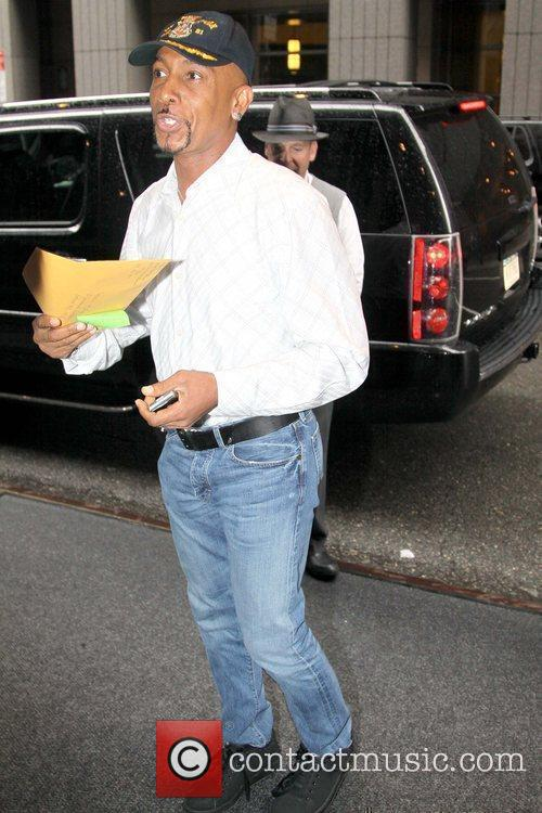 Montel Williams outside his Manhattan hotel New York...