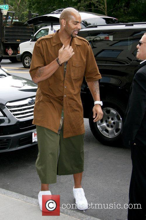 Utah Jazz basketball player Carlos Boozer outside his...