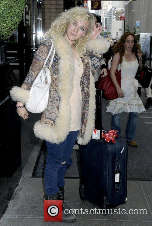 Juno Temple 'Year One' actress outside her Manhattan...