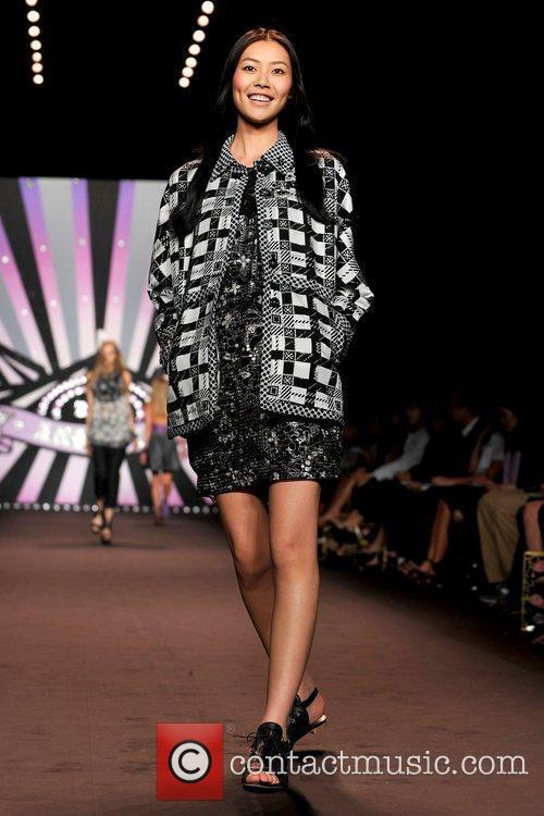 Model Mercedes-Benz IMG New York Fashion Week Spring/Summer...