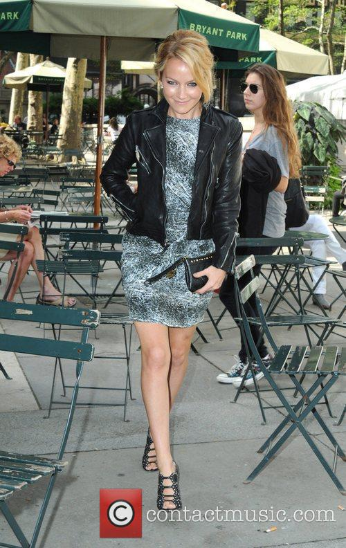 Celebrities at Bryant Park during Mercedes-Benz IMG New...