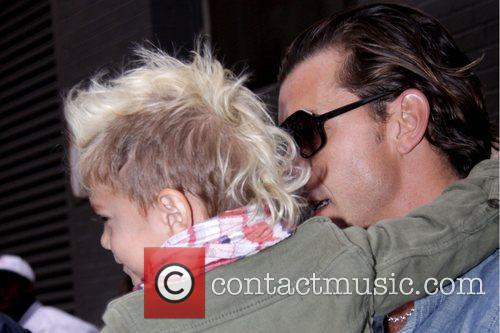 Kingston Rossdale showing off his faux hawk and...