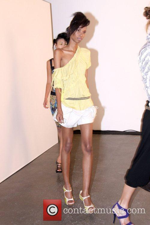 Models Mercedes-Benz IMG New York Fashion Week Spring/Summer...