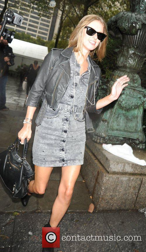 Nicky Hilton arriving at Bryant Park Mercedes-Benz IMG...