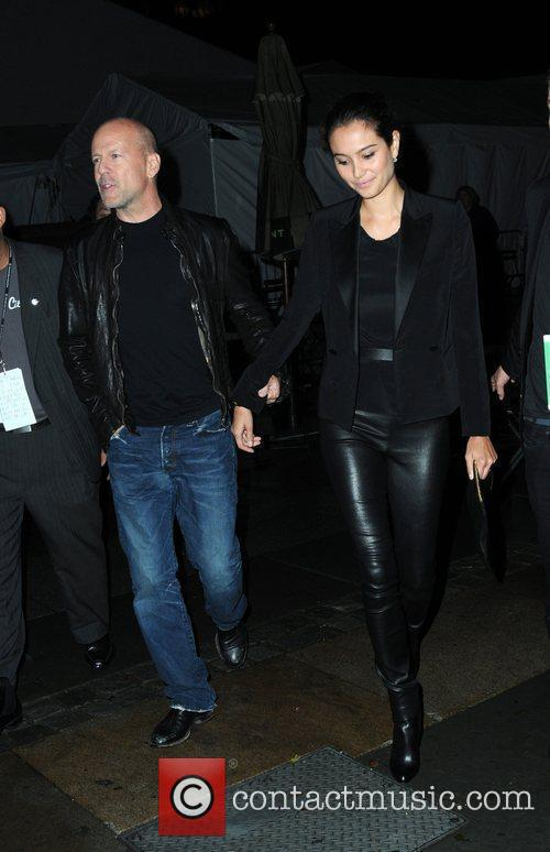 Bruce Willis and Emma Heming Mercedes-Benz IMG New...