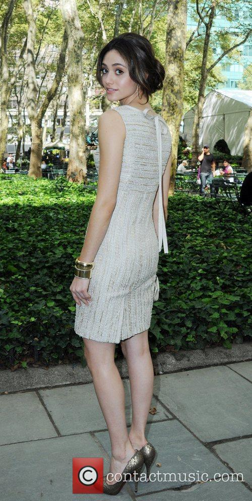 Emmy Rossum Celebrities at Bryant Park hotel during...