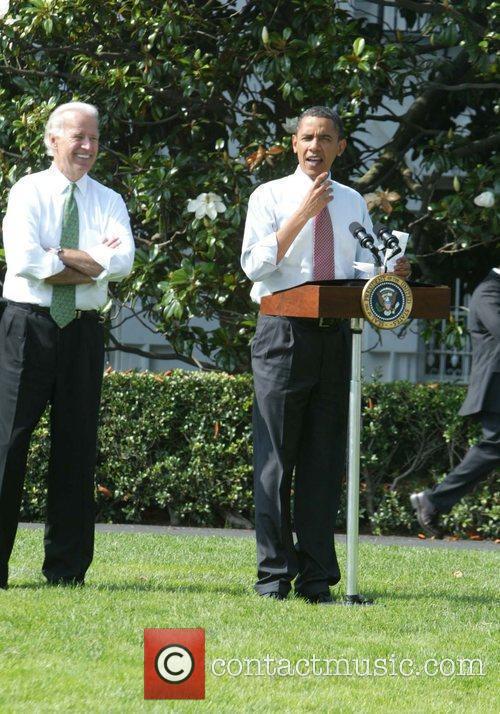President Barack Obama hosts a bar-b-que event for...