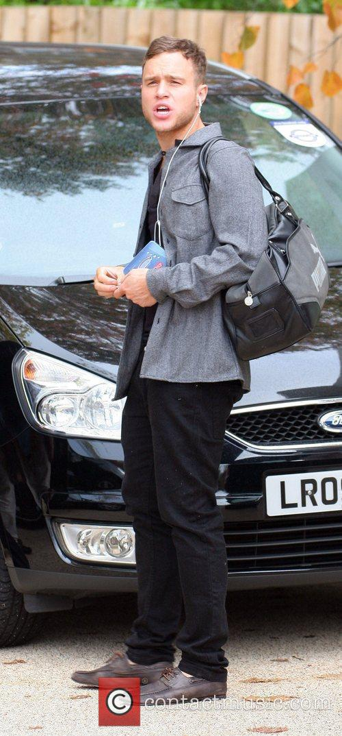 Olly Murs outside the X-Factor studios London, England