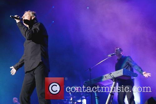 Orchestral Manoeuvres in the Dark performing at the...