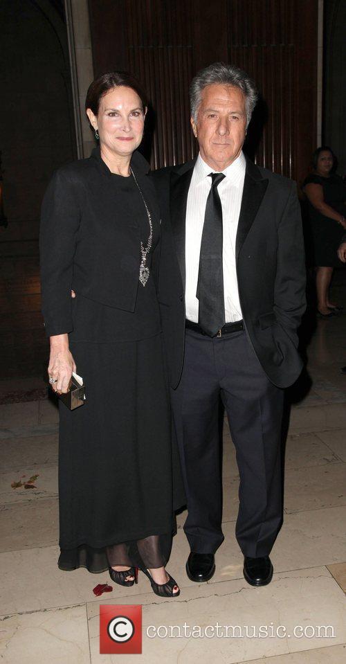 Actor Dustin Hoffman and wife Lisa Gottsegen...