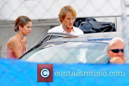 Owen Wilson on the set of his new...