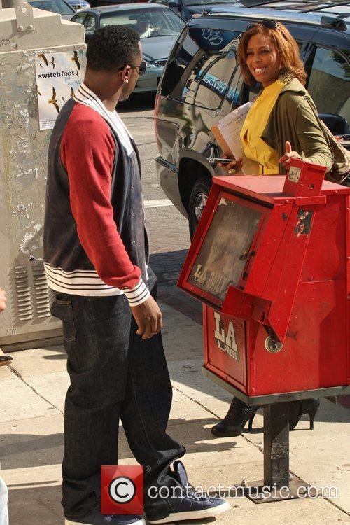 P Diddy aka Sean Combs and a female...