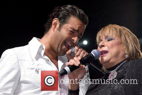 Pablo Montero and Lucecita Benitez performing live at...