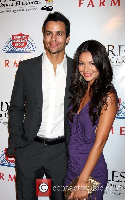 Matt Cedeno with his wife Erica Franco Padres...