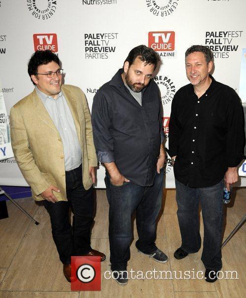 Anthony Russo, Dan Harmon, Russ Krasnoff arrive at...