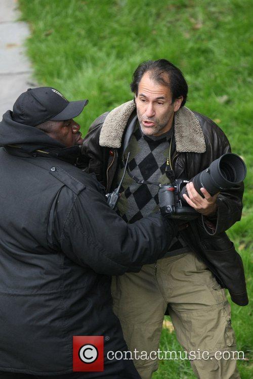 Celebrity photographer Steve Sands was seen being assaulted...
