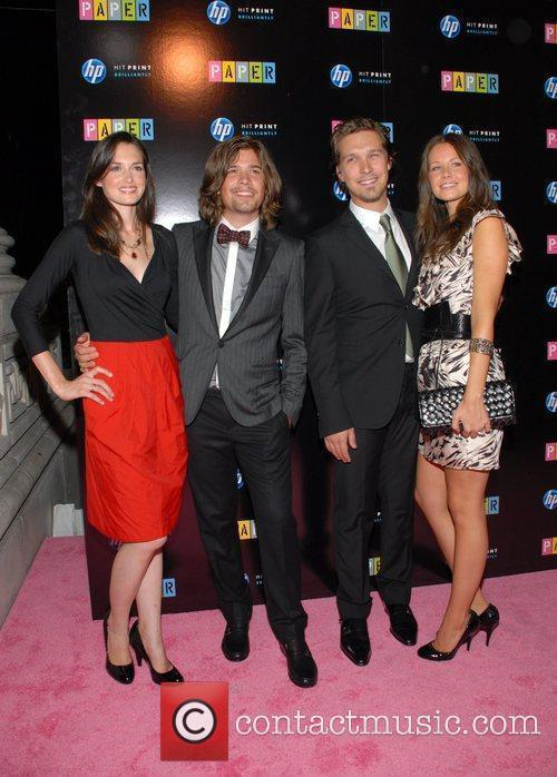 Kathryn Tucker, Zac Hanson, Isaac Hanson and Nicole...