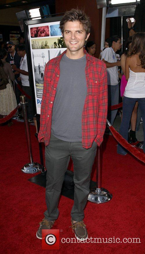 Adam Scott Los Angeles screening of Overture Films'...