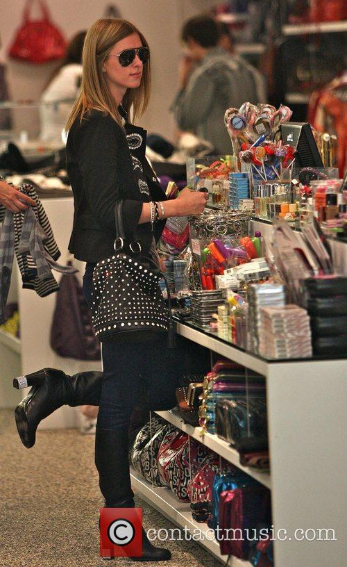 Nicky Hilton goes shopping at Kitson boutique after...