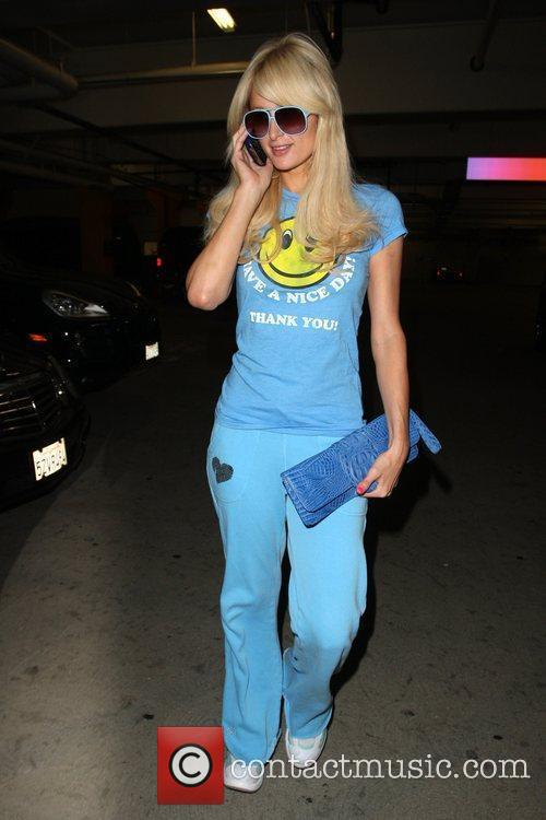 Seen arriving at the gym wearing all blue.