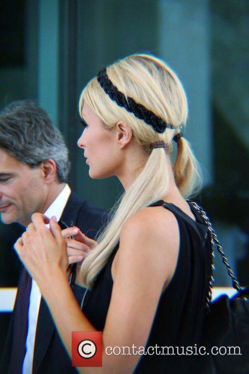 Paris Hilton arrives at the Ferguson U.S. Courthouse...