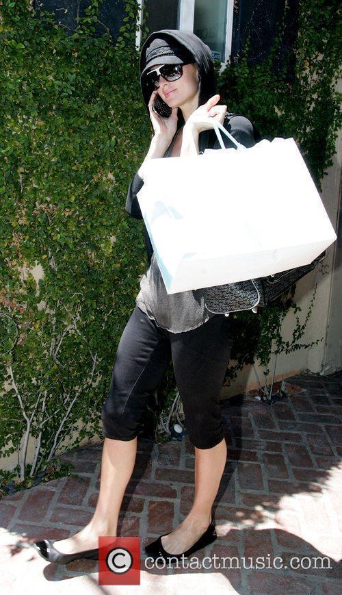 Paris Hilton leaving a spa on Melrose Avenue...