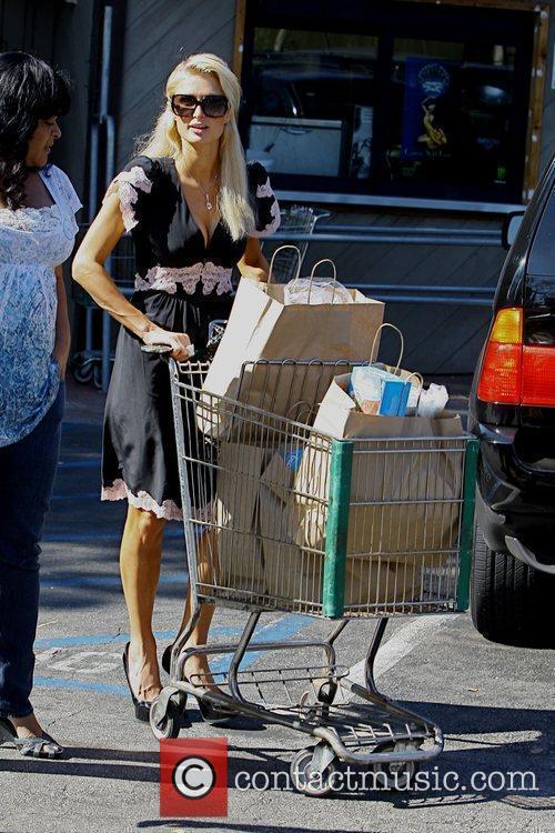 Paris Hilton shopping at the Beverly Glen mall...