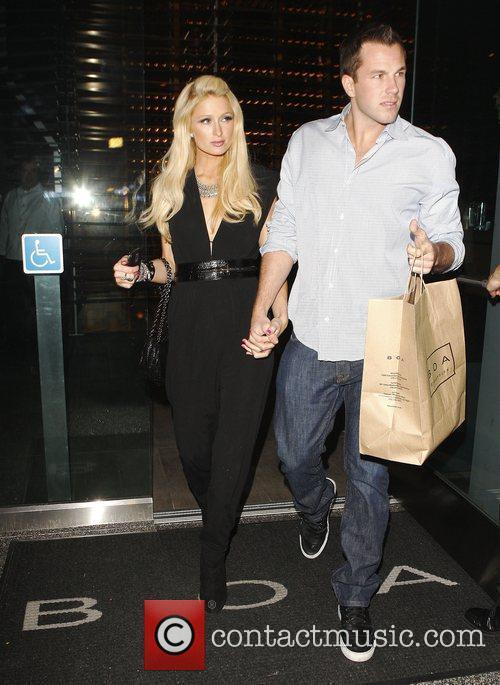 Paris Hilton and Boyfriend Doug Reinhardt leaving 'Boa'...