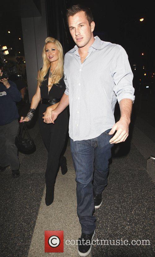 Paris Hilton and Boyfriend Doug Reinhardt outside 'Boa'...