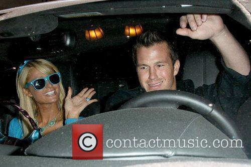 Paris Hilton and Doug Reinhardt outside Beso restaurant...