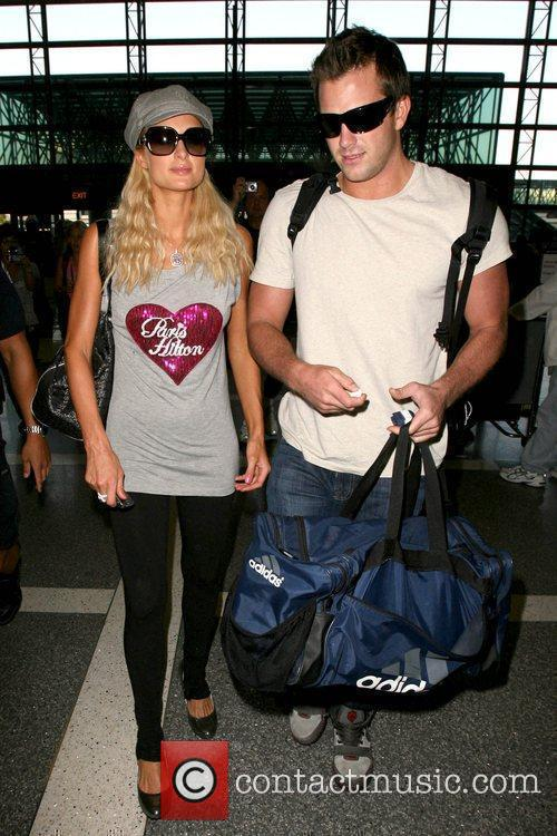 Paris Hilton, Wearing A T-shirt With Her Name On It and Doug Reinhardt 11